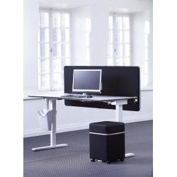 Screenit bordskærmvæg B180xH65 cm sort