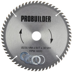 Probuilder klinge, 230x30x1,6 mm, t60