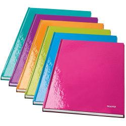 Leitz WOW notesbog A4, linjeret, lilla