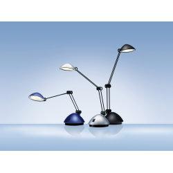LED Space bordlampe i mat sølvfarvet inkl. bordfod