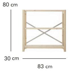ABC Grundreol HxBxD: 80x83x30 cm, natur