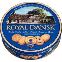 Royal Danish Butter Cookies i metaldåse, 908g