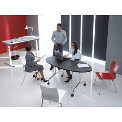 Space klapbord 160x80 oval, bøg melamin