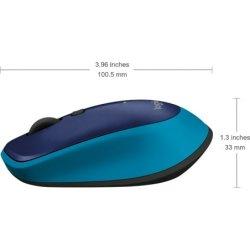 Logitech M335 Trådløs mus 2,4 GHz, blå