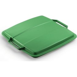 Låg affaldsspand 90 l, Grøn