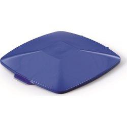 Fladt låg affaldsspand 40 l, Blå