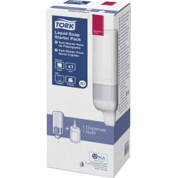 Tork S1 Startpakke Dispenser & sæbe, hvid
