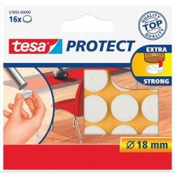 Tesa Protect filtpude rund Ø18 mm, Hvid