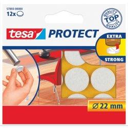 Tesa Protect filtpude rund Ø22 mm, Hvid