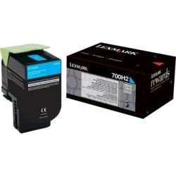 Lexmark 70C0H20 Lasertoner, blå, 3000s