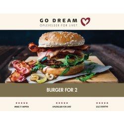 Oplevelsesgave - Cafeburger for 2