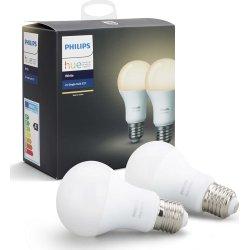 Philips HUE 9W A60 E27 dobbeltpakke, hvid