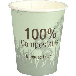 Komposterbart Kaffebæger 36 cl, beige med tryk