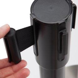 Afspærringsbånd 3 m, sort
