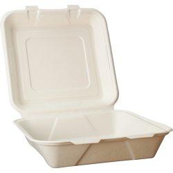 Komposterbar engangsboks, 24,5 x 24,5 x 5,0 cm