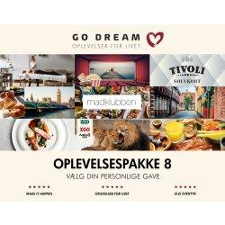 Go Dream Oplevelsesgave 9-i-1 Gavepakke 800 kr.