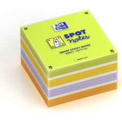 Oxford Sticky Notes Cube 75x75, ass. farver