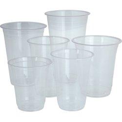 Komposterbart Drikkebæger, klar, PLA, 200 ml