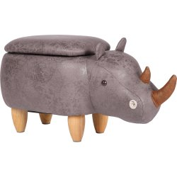 Næsehornskammel med opbevaring