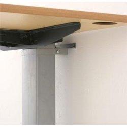 Compact væghængt bord alu/bøg melamin 80x60 cm