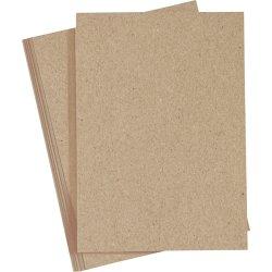 Happy Moments Papir, A4, 120g, 20 ark, natur