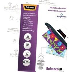 Fellowes Enhance 80 mic A4 Lamineringslomme, gloss