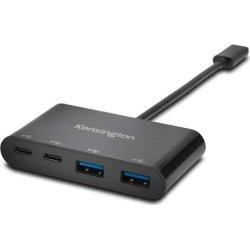 Kensington CH1000 4-port USB-C Hub, sort