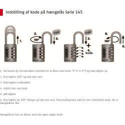 ABUS kodelås 145/40, Sølv