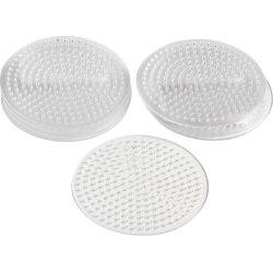 Perleplade, 8,5 cm, lille cirkel, 10 stk