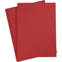 Happy Moments Karton, A4, 220g, 10 ark, rød