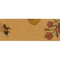 Flettestrimler i læderpapir, 15mm x 9,5m, blomster