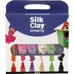 Silk Clay Creamy Modellervoks, 6x35 ml, ass.