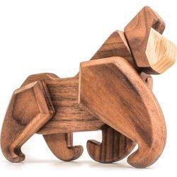 FableWood trælegetøj i valnød og ask, Gorilla