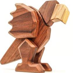 FableWood trælegetøj i valnød og ask, Papegøje