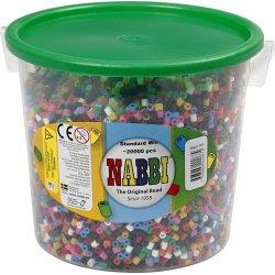 Nabbi Rørperler, 20000 stk, standardfarver