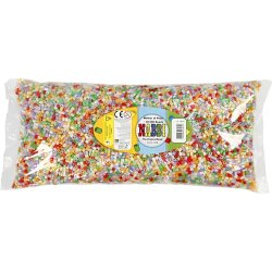 Nabbi Rørperler, 30000 stk, perlemorsfarver