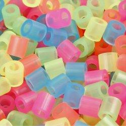 Nabbi Rørperler, 5000 stk, neonfarver