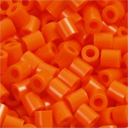 Nabbi Rørperler, 6000 stk, klar orange (13)