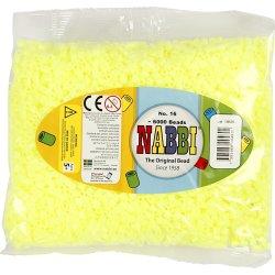 Nabbi Rørperler, 6000 stk, gul pastel (16)