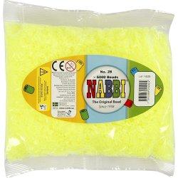 Nabbi Rørperler, 6000 stk, gul neon (28)
