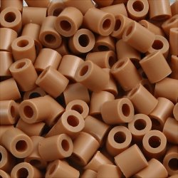 Photo Pearls Rørperler, 6000 stk, lys brun (20)
