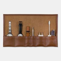 Larsen & Eriksen Watch roll, brunt læder