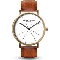 Larsen & Eriksen A41 ur, guld & brun