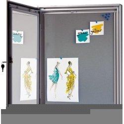 Infobox m/ filtplade til stifter inkl. lås, 4xA4