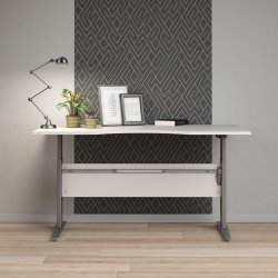 Budgetline hæve/sænkebord, 180x90 cm, hvid