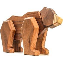 FableWood trælegetøj i valnød og ask, Bjørn