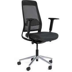 Belfort kontorstol med netryg, sort