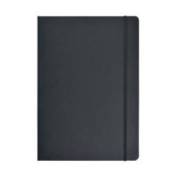 Notesbog A4 lin. PU-mat. med elastiklukning, sort