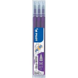 Pilot FriXion Clicker 0,7 Refill, violet, 3 stk.