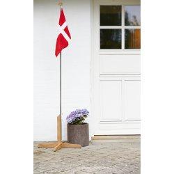 Flagstang med Dannebrogsflag, H 194 cm